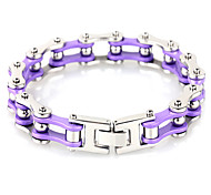 Kalen Cheap Jewelry Fashion Bracelets 316 Stainless Steel Purple Bike Chain Elegant Bracelets For Girls Lady Women Bangles Gifts