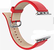 liveer 38/42 milímetros pulseira de couro genuíno com conector de metal fecho inoxidável para relógio de maçã 1/2 série