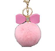 Porta-Chaves Brinquedos Originais Brinquedos Porta-Chaves Esfera Felpudo Rosa Para Meninos / Para Meninas