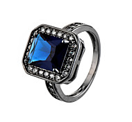 Luxury Wide Circle Women Rings With Oval AAA Cubic Zirconia And Fashion Small Round CZ Diamond Ring Jewelry