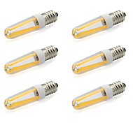 4W E14 Двухштырьковые LED лампы T 4 COB 380 lm Тёплый белый / Холодный белый AC 220-240 V 6 шт.