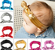 Retail 2016 New Baby Girl Headwrap Metallic GOLD Knot Headband For Girl Hair Accessories Top Knot Bunny Ears Headbands Shipping