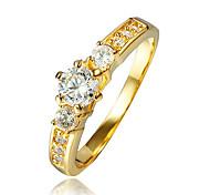 Женский Кольцо Цирконий бижутерия Позолота 18K золото Бижутерия Назначение Свадьба Для вечеринок Повседневные