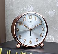 despertador com caso matel estilo moderno cor prata movment silenciosa