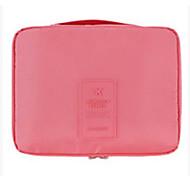 Makeup Storage Cosmetic Bag / Makeup Storage Nylon Solid 21*13*5 Pink