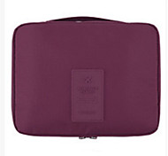 Makeup Storage Cosmetic Bag / Makeup Storage Nylon Solid 21*13*5 Red