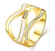 Ring Schmuck vergoldet Rose Gold überzogen 18K Gold Imitation Diamant Simple Style Gold Rose SchmuckHochzeit Party Halloween Alltag