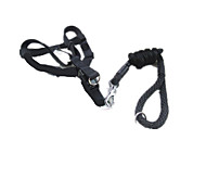 Dog Leash Adjustable/Retractable Solid Black Nylon