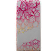 For Sony Xperia XA Case Cover Pink Full Flower Pattern Painted TPU Material Phone Case