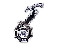 Feminino Colares com Pendentes Colar Cristal Zircão Zircônia Cubica Imitações de Diamante Liga Original Clássico Personalizado Moda