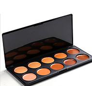 10 Eyeshadow Palette Dry Eyeshadow palette Pressed powder Daily Makeup