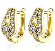 New Design Romantic Waterdrop Zircon Filled Gold Ear Cuff Clip On Earrings For Women Trendy Clip Earring Girl Gift