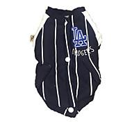 Dog Sweatshirt Dog Clothes Casual/Daily Keep Warm Stripe Black