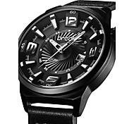BREAK Men Top Luxury Brand Leather Band Fashion Casual Analog Quartz Sports Wristwatches Calendar Dress Gift Watches