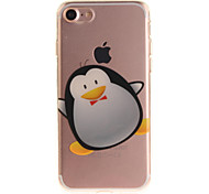 For iPhone 7 6S 6 TPU Material IMD Process Cartoon Penguin Pattern Phone Case