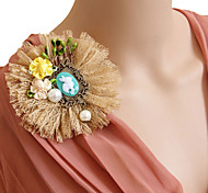 Women's Fashion Retro Alloy/Pearl/Ribbon/Lace Brooches Pin Daily/Casual Epaulette Accessory 1pc