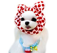 Cat / Dog Bandanas & Hats Red / Pink / Coffee Dog Clothes Summer / Spring/Fall Leopard Cute / Holiday / Fashion