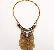 MPL Europe exaggerated fashion necklace tassel Diamond Butterfly