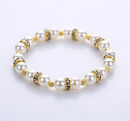 Imitation Pearl Alloy Spacer Bracelet European And American Fashion For Men And Women Lovers Bracelet The Original Manual System Of A Single String