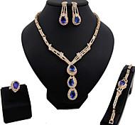 Gioielli 1 collana / 1 paio di orecchini / 1 bracciale / Anelli imitazione dello zaffiro / L'imitazione di RubyMatrimonio / Feste /