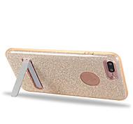 Для со стендом Кейс для Задняя крышка Кейс для Один цвет Мягкий TPU Apple iPhone 7 Plus / iPhone 7