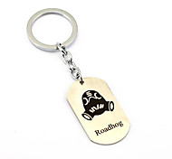 Inspired by Roadhog Overwatch  Anime Cosplay Accessories Keychain Silver Alloy