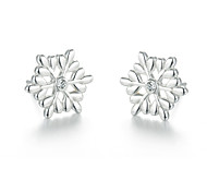 SILVERAGE Sterling Silver Snowflake Stud Earrings