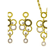 Jewelry 1 Necklace 1 Pair of Earrings Rhinestone Wedding Party Daily Casual 1set Women Gold Wedding Gifts