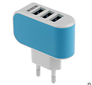 Universal 3Ports LED EU Plug for iPhone/iPad Samsung Huawei Xiaomi and Other Cellphones(5V  3.1A)