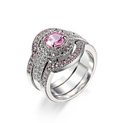 Sapphire  Silver Jewelry Pure Solid  Round CZ Diamond Engagement Rings for Women Wedding Bague