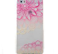 For Huawei Y5II Y6II Y625 Y635 5X P9 P8 Lite Case Cover Pink Lotus Pattern Painted TPU Material Phone Case