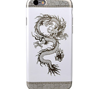 For Apple iPhone7 7Plus 6S 6Plus SE 5S 5  Case Cover Dinosaur Pattern High Clear Black TPU Material Phone Case