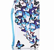 Group Butterfly Painting PU Phone Case for apple iTouch 5 6