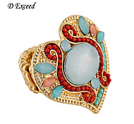 2016 Brand Newest Cute Lovely Pink/ Green Heart Shaped Resin Acrylic Alloy Rings for Women JZ0039