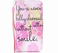 caso telefono rosa pittura sorriso PU per Apple iTouch 5 6
