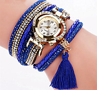 Brand Fashion Crystal Leather Bracelet Watch Women Multilayer Tassel Wristwatches Drop Shipping Relogio Feminino Clock