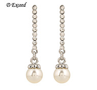 Brand New Arrival Vintage Elegant Crystal Imitation Pearl Drop Earring For Ladies ER140529