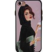 For Apple iPhone 7 7Plus 6S 6Plus Case Cover Girl Pattern TPU Material Painted Relief Phone Case