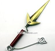 Arme Inspiré par Naruto Minato Namikaze Anime Accessoires de Cosplay Arme Noir / Doré / Argenté Alliage