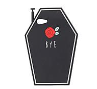 3D Black Flower Silicone Case for iPhone 7 7 Plus 6s 6 Plus SE 5s 5