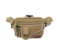 20 L Belt Pouch/Belt Bag Breathable Black / Others / Army Green Canvas