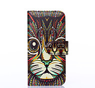 For Apple iphone6s iphone6 The Cat with PU Leather Case Holster