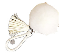 Porta-Chaves Hobbies de Lazer Porta-Chaves Esfera Metal Branco Para Meninas