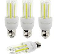 7W E26/E27 LED a pannocchia T 6 COB 600 lm Luce fredda Decorativo V 4 pezzi