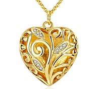 New Fashion 18k Yellow Gold Plated Necklace Pendant for Women Wedding Jewelry Christmas Gifts Bridal Jewelry N034