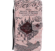 For Google Pixel XL Pixel PU Leather Material Castle Pattern Painting Phone Case