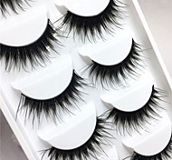 Eyelashes lash Full Strip Lashes Eyes Crisscross / Thick Lifted lashes / Volumized Handmade Fiber Black Band 0.10mm 15mm