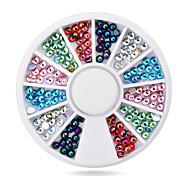 1pcs  3mm Nail Art Glitter Rhinestone Wheel Nail