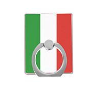 италия флаговый пластиковый держатель кольца / 360 вращающийся для мобильного телефона iphone 8 7 samsung galaxy s8 s7