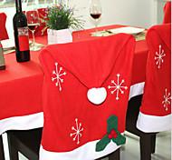 1шт рождественские украшения нетканое снежинки крышки стула 50 * 65см